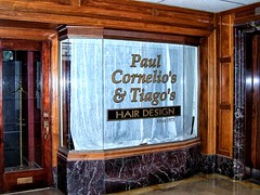 Hartford Ontario - United States- Paul Cornelio's & Tiago;s  - Hair Design - 93-99 Pratt St (Onasill ~ Bill Badzo - New Format) Tags: connecticut conn ct hartfordcounty hartford statecapitol 93 99 pratt street retail building turmbull management 1910 artdeco architecture style max bibos russell caribbean bar restaurant basrelief amodio real estate onasill nrhp district sky clouds downtown united states kodak ontario paul cornelios tiagos hair design 9399 st