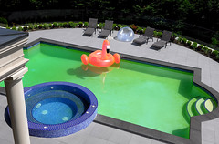Plunge (Light Butcher) Tags: street banal commonplace mundane swimming pool house