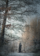 Winter hopes (www.mkcphotography.uk) Tags: winter winterwonderland frost glasgow children child thebest childmodel mkcp mkcphotography mkcphotocreations wood forest fog snow sledge outdoor bokeh excellent