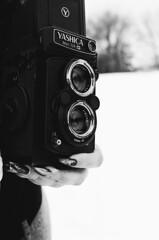 Yashica (Jennaasucks) Tags: ilfordxp2 nikonphoto nikonfilm film filmphotography filmwontdie blackandwhitefilm bwfilm