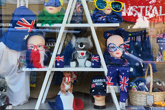 26th of January is Australia Day (Erich Schieber) Tags: australia orange reflection shop shopmannequin australiaday window