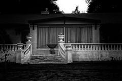 Stairs (Erich Schieber) Tags: australia orange blackandwhite architecture house suburbia
