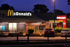 Global Food Disaster of another Kind (Erich Schieber) Tags: australia orange mcdonalds night restaurant fastfood sign urban