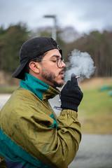 9.12-36 (fcordoba.fotografia) Tags: portrait smoking smoke bokeh nikon nikond750 cap 50mm norway haugesund boy male cigarro fumar fumando humo