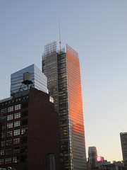 2020 January Evening Light New York Times Building 4636 (Brechtbug) Tags: 2020 evening light new york times building afternoon day clock cloudless 01222020 above hells kitchen clinton architecture skylines sunlight nyc skyline city art scape cityscape winter weather blue sky