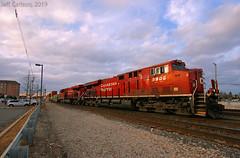 CP Stack Transfer (Jeff Carlson_82) Tags: 8905 cp cprr canadian pacific canadianpacific il ge es44ac franklinpark illinois chicagoland wide gevo intermodal doublestack transfer train railroad railfan railway