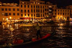 Grand Canal at Night (UrbanphotoZ) Tags: venice italy night boats gondola hotels venezia grandcanal cafes gondolier balconies reflections