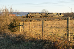 20-362 (George Hamlin) Tags: virginia marsh run success railroad intermodal freight train norfolk southern railway ns 228 emd sd9043mac general electric es44ac diesel locomotive flat car containers fence field golden hour sky winter photodecor george hamlin photography