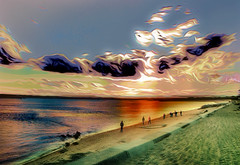 Walking the Beach (Rusty Russ) Tags: beach water cloud people walk green red colorful day digital flickr country bright happy colour scenic america world sunset sky nature blue white tree art light sun park landscape summer old new photoshop google bing yahoo stumbleupon getty national geographic creative composite manipulation hue pinterest blog twitter comons wiki pixel artistic topaz filter on1 sunshine image reddit tinder russ seidel facebook timber unique unusual fascinating