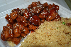 Sesame Chicken With Rice. (dccradio) Tags: lumberton nc northcarolina robesoncounty indoor indoors inside food eat meal chinesefood chinesetakeout chicken meat sesamechicken nikon d3500 dslr wednesday evening wednesdayevening goodevening january lunch supper dinner friedrice porkfriedrice rice