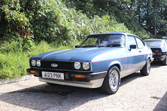 Ford Capri 2.8 Injection A123PNK (Andrew 2.8i) Tags: mk3 mk 3 iii mark liftback hatchback hatch coupe sportscar sports ford capri show uk surrey weybridge track circuit brooklands 50th anniversary v6 cologne 2800 28 special injection a123pnk
