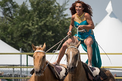 Strathmore Stampede 2018 (tallhuskymike) Tags: strathmorestampede event strathmore stampede rodeo 2018 cowgirl entertainer horse horses prorodeo action alberta western outdoors