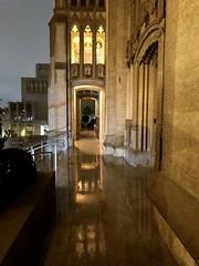 Entrance reflections (JoeGarity) Tags: episcopal anglican reflections lights wet rain rainy church gracecathedral sanfrancisco california