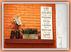 Every Day Counts (bigbrowneyez) Tags: chart ideas facts list flowers brick coffeeshop fun secondcup latte ottawa wall art artful everydaycounts wordsmeansomething thewritingsonthewall striking clever smart fantastic thoughtful precious lovely pretty resolutions