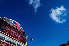 99 Red Balloons or Touchdown Nebraska (nichols_) Tags: nebraska huskers football collegefootball redballoons fujifilmxt1 xt1 cornhuskers bigten