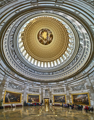 USA Capitol Panorama (Valley Imagery) Tags: vertical panorama usa capitol dome stitched democracy government history art sony a99ii tamron 1530 paintings statue