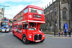 Tea Bus (Jungle Jack Movements (ferroequinologist) all righ) Tags: red bistro afternoon tea gin coffee scone lothian road princes street st john chuch edinburgh scot scottish scotland royal mile castle double decker johns bus transport service carry take journey convey move travel passenger route stop ring bell card city suburb trip carriage vehicle depot driver seat ticket go hail mobile pass coach drive number tour voyage tourism cover livery commuter tourist holiday town mind gap routemaster master cafe bradley aec