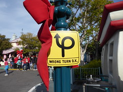 Wrong turn ok (c_nilsen) Tags: disneyland anaheim orangecounty themepark digital digitalphoto california signs toontown