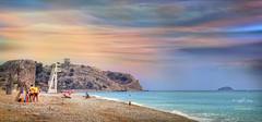 (015/20) All my love (Pablo Arias) Tags: pabloarias photoshop nx2 cielo nubes arquitectura paisaje playa arena mar mediterráneo torreta vigía villajoyosa alicante