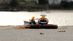 Forgotten on the quay ... (patrick_milan) Tags: funny mac donalds ring quay bokeh sea water finistere bretagne portsall