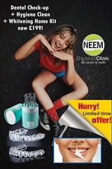 Dental Check-up + Hygiene Clean + Whitening Home Kit now £199! (Neem Dental Clinic) Tags: hygiene clean south harrow whitening homekit neem dental northolt rayners lane ruislip