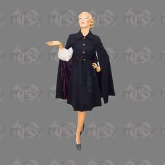 1970s Oscar de la Renta Wool Cape Coat (Rickenbackerglory.) Tags: vintage 1970s oscardelarenta wool cape coat siegel mannequin