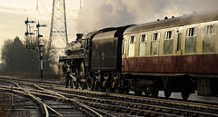 GCR 99730cr (kgvuk) Tags: gcr greatcentralrailway railways trains steam locomotive steamlocomotive steamengine steamtrain 73156 brstd5mt 460 swithlandsidings