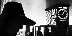 Quarter to one. (Baz 120) Tags: candid candidstreet candidportrait city contrast street streetphoto streetcandid streetportrait strangers rome roma ricohgrii europe women monochrome monotone mono noiretblanc bw blackandwhite urban life portrait people provoke italy italia grittystreetphotography faces decisivemoment