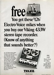 Viking 433W reel to reel tape recorder 1968 (Nesster) Tags: hifistereoreview october 1968 vintage hifi stereo magazine print ad advert advertisement
