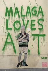 Malaga Loves Art (only lines) Tags: malaga art streetart spain