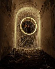 Fire Spinner (alessio.liuzzi93) Tags: lightpainting steelwool spinner fire