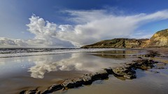 Wish you were here (pauldunn52) Tags: beach witches point temple bay glamorgan heritage coast wales reflection rock pool
