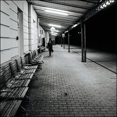 ** (Koprek) Tags: street monochrome station train streetphotography railway 1600 nightlight asa nightwalk varaždin stphotography stphotographia 120 6x6