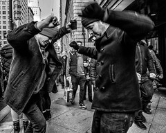 Broad Street, 2020 (Alan Barr) Tags: philadelphia 2020 newyear mummersparade dance street sp streetphotography streetphoto blackandwhite bw blackwhite mono monochrome candid city people panasonic gx9