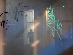 IMG_3047 (sven804) Tags: colour green blue street streetphotography urban reflections windows light dark night nightphotography graffiti glasgow