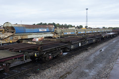 Photo of 90 ton Bogie Switch & Crossing Rail Carrier Wagon.