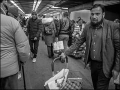 Market's People (GColoPhotographer) Tags: streetphotography bergamo man market bianconero street blackandwhite bw cart