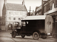 IMG_E0526 (tonywinward2) Tags: beamish museum open air old north east england northern uk united kingdom bowler sepia car town 1900 1900s suit gentleman building bank photography britain great tie 2020 county durham co style 1910 1910s 1913 van