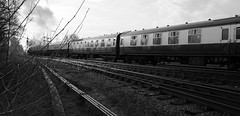 GCR 99766crbw (kgvuk) Tags: gcr greatcentralrailway railways trains steam locomotive steamlocomotive steamengine steamtrain 73156 brstd5mt 460 swithlandsidings