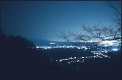 (✞bens▲n) Tags: pentax lx boots 200 carl zeiss flektogon 35mm f24 film analogue slide expired japan gunma nightscape mountains lights landscape dark stars