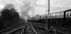 GCR 99703crbw (kgvuk) Tags: gcr greatcentralrailway railways trains steam locomotive steamlocomotive steamengine steamtrain 73156 brstd5mt 460 swithlandsidings