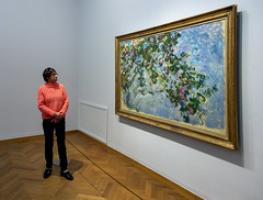 Looking at Monet / Gemeentemuseum / The Hague 2020 (zilverbat.) Tags: candid city citylife denhaag hofstad museum people peopleinthecity thehague thenetherlands urban urbanlife zilverbat candidphotography indoor gemeentemuseum painting monet artistic art artist peopleofthehague travel timelife town tripadvisor tourist tour trip tourism photography holland history hotspot heritage humansofthehague canon citytrip oil canvas olieverf doek schilderij rozen frame pin roses explore woman exhibition tentoonstelling tickets kaarten
