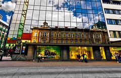 Ljubljana - At the bus stop (Marco Trovò) Tags: marcotrovò hdr canoneos5d slovenia lubiana architecture architettura strada street città city building edificio postaslovenijeljubljana ljubljana