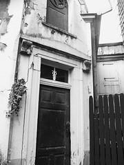 Pharmacy Backyard (Barbarella_StrangeLovely) Tags: oldtown altstadt pharmacy apotheke backyard hinterhof blackandwhite blackwhite urban oldbuilding
