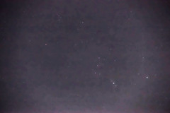 Orion, foggy variant (sjrankin) Tags: 23january2020 edited kitahiroshima hokkaido japan stars sky night orion rigel m42 nebula betelgeuse constellation