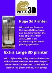 Large Build Volume 3d Printer (zilla3donline) Tags: best large 3d printer makerspace