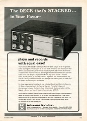 Kinematics KX-1000 8 track tape recorder 1968 (Nesster) Tags: hifistereoreview october 1968 vintage hifi stereo magazine print ad advert advertisement