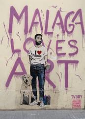 Malaga Loves Art 2 (only lines) Tags: malaga art streetart spain
