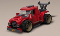 Lego Moc Racetruck (k_lego_r) Tags: 3d c4d cinema4d car cinema classiccar rendering render race racer racecar racing daimlerbenz auto tuning turbo lego legoart legocar legocity legomoc moc minifigures minifigure vehicle speedchampions sportcar