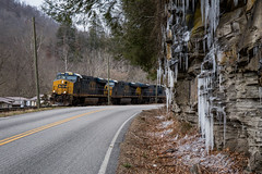 Cold day in EK (Peyton Gupton) Tags: csx csxt cv sub creech ek kentucky coal glidden